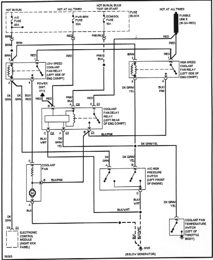Gm Computer Electric Fan Relay Wiring Diagram