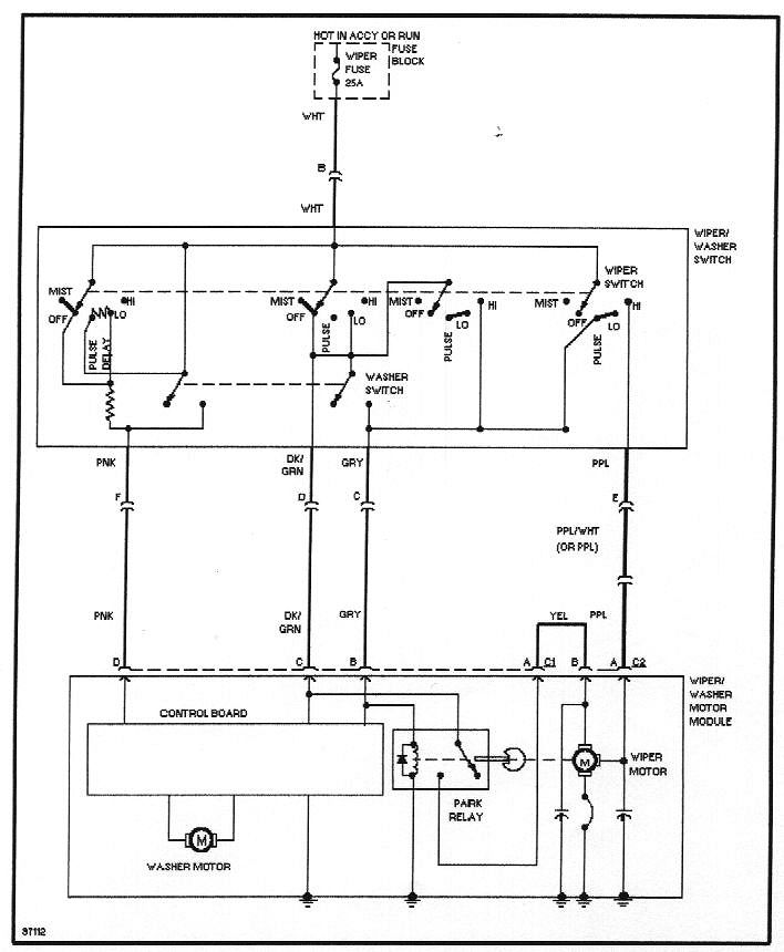 wiring diagrams windshield wiper circuit w delay