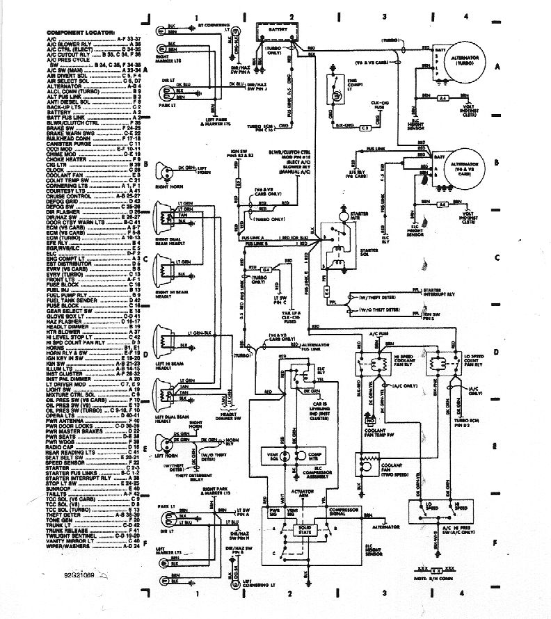 wiring diagrams rh gnttype org 98 Buick Regal Ignition Switch Schematic 1990 Buick Regal