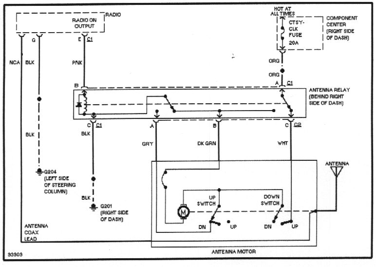 wiring diagrams power antenna circuit