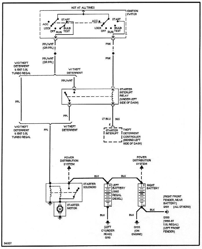 Shows Ignition Switch Wiper Positions Interrupt Relay Includes Location Wanti Theft Only And Starter Motor Terms Including Wire Colors: Car Antenna Wiring Diagram At Ultimateadsites.com