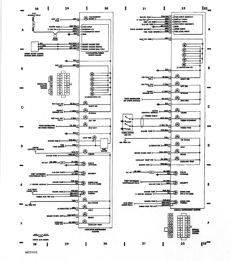 1995 Gm 32 Pin Buick Instrument Panel Wiring Diagram Turn Signal Light from www.gnttype.org
